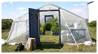 a pic of greenhouse pvc entrance