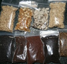 plastic seed baggies full